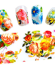 100cmx4cm Beauty Flowers Nail Art Transfer Foils Polish Stickers Adhesive Decals Manicure Wraps for Tips Decoration