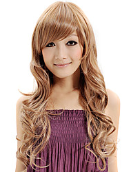 cheap -Capless Wig Water Wave Synthetic Fiber Heat Blonde Brown Color Wig