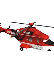 Недорогие -3D пазлы Бумажная модель Наборы для моделирования Летательный аппарат Вертолет Своими руками Плотная бумага Классика Вертолет Детские Универсальные Игрушки Подарок