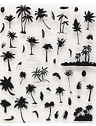 cheap -DIY Coconut Palm Tree Flowers Water Transfer Nail Art Sticker Decal Exquisite