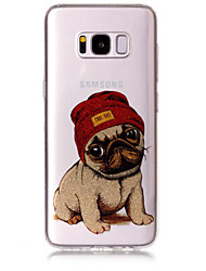cheap -Case For Samsung Galaxy S8 Plus S8 Phone Case TPU Material IMD Process Dog Pattern HD Flash Powder Phone Case S7 Edge S7 S6 Edge S6