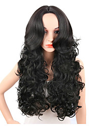 Curly Wave Middle Parting Afro Women Wearing Wig Durable High Temperature Trendy Hairstyle
