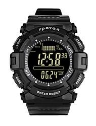 Муж. Смарт-часы Модные часы Цифровой Защита от влаги Pезина Группа Черный