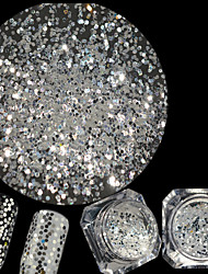 cheap -0.2g/Bottle New Nail Art Diamond White Glitter Sequins Hexagon Shining Thin Slice Nail Art DIY Beauty Sparkling Decoration Manicure Beauty Flat Tip