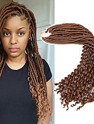 Недорогие -Надувной Curl Кудрявый Косы в технике Кроше Искусственные дреды в технике Кроше Искусственные дреды Расширения Dreadlock 100% волосы