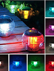 cheap -7 Colors Changing Waterproof Rainbow Pool Solar Floating LED Light Lamp Ball