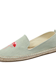 cheap -Women's Loafers & Slip-Ons Moccasin Espadrilles Light Soles Summer Fall Cotton Linen Denim Casual Party & Evening Office & Career