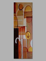 abordables -Peint à la main Abstrait Format Vertical, Artistique Abstrait Toile Peinture à l'huile Hang-peint Décoration d'intérieur Un Panneau