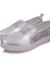Mulheres Sapatos Tecido Microfibra Primavera Verão Conforto Rasos Sem Salto Ponta Redonda para Casual Escritório e Carreira Ao ar livre