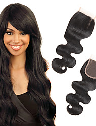 cheap -1 Piece/Pack 4x4 Brazilian Body Wave Lace Closure Hair 100% Remy Human Hair 3 Kind of Style Supply U