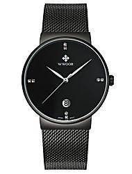levne -WWOOR Pánské Unikátní Creative hodinky Náramkové hodinky Módní hodinky Sportovní hodinky Hodinky na běžné nošení Křemenný Kalendář Nerez