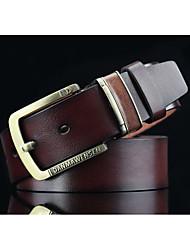 Men's retro pin buckle men's belt Tan joker locomotive men's personality cowboy belts