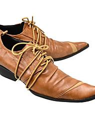 Herren Schuhe Leder Frühling Komfort Outdoor Für Normal Schwarz Orange Kaffee