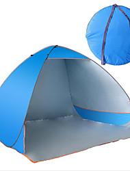 Недорогие -3-4 человека Световой тент Палатка Тент для пляжа Водонепроницаемый Ультрафиолетовая устойчивость для Полотно См