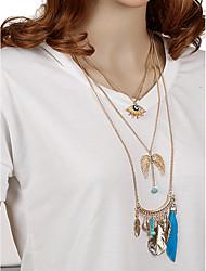Недорогие -Жен. Геометрической формы На заказ Богемные С кисточками Мода Ручная Pабота Простой стиль Ожерелья-бархатки Ожерелья с подвесками