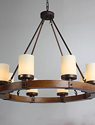 Vintage Old Wood Wooden Chandeliers Do