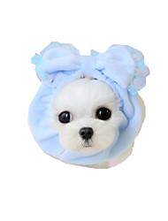 abordables -Chien Bandanas & Chapeaux Vêtements pour Chien Nœud papillon Jaune Bleu Rose Tissu Costume Pour les animaux domestiques Femme Décontracté