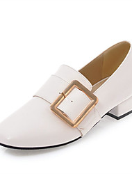 Women's Loafers & Slip-Ons Comfort Gladiator Summer Fall Leatherette Casual Dress Block Heel White Black Beige 2in-2 3/4in