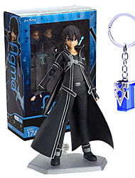 cheap -Anime Action Figures Inspired by Sword Art Online Kirito PVC 14 CM Model Toys Doll Toy