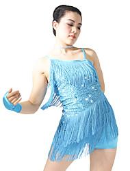 MiDee Latin Dance Dancewear Adults' Children's Fringe Latin Dress