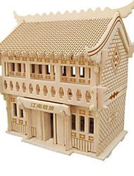 Недорогие -3D пазлы Пазлы Наборы для моделирования Знаменитое здание Своими руками Натуральное дерево Классика Детские Универсальные Подарок