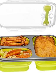 Недорогие -силиконовая складная переносная коробка для завтрака чаша для бенто коробки складной контейнер для хранения еды коробка для завтрака экологически чистая