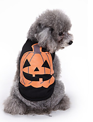 Dog Vest Dog Clothes Halloween Pumpkin Black