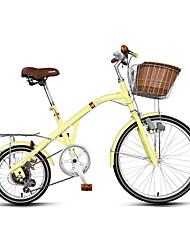 Bicicleta Confortável Ciclismo 7 Velocidade 16 polegadas 24 polegadas RIPIN Freio Caliper Central Fixado Sem Amortecedor Comum Aço