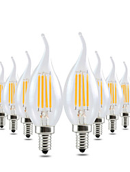 4W E12 LED Candle Lights CA35 4 COB 300-400 lm Warm White 2800-3200 K Dimmable Decorative AC 110-130 V