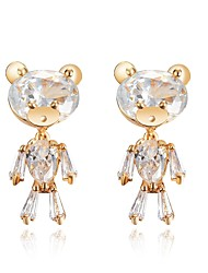 cheap -Women's Stud Earrings Fashion Classic Zircon Alloy Bear Jewelry For Wedding Party Engagement Gift Ceremony Evening Party