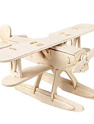 cheap -3D Puzzles Wood Model Toys Fighter Wood Not Specified Unisex Pieces