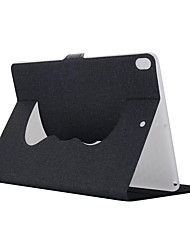 cheap -Case For Apple iPad Air 2 iPad Air with Stand Full Body Cases Solid Color Hard Textile for iPad Air iPad Air 2 iPad Pro 10.5 (2017) iPad
