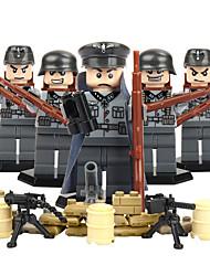 Недорогие -DILONG Конструкторы Фигурки из блоков Обучающая игрушка Воин Eagle Армия Универсальные Игрушки Подарок