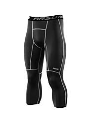 Arsuxeo Per uomo Collant da corsa Leggings da palestra Fitness, Running & Yoga Traspirazione umidità Dimensioni 3D Morbido 3/4