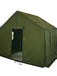 Недорогие -4 человека Туристическая палатка-хижина Семейный кемпинг-палатка На открытом воздухе С защитой от ветра Аксессуары для багажа Однослойный Палатка для Походы сплав цинка