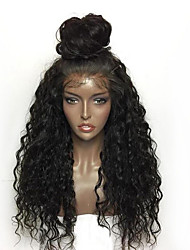 cheap -Synthetic Lace Front Wig Deep Curly Kinky Curly Layered Haircut With Baby Hair Heat Resistant For Black Women African American Wig