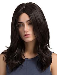 cheap -Enchanting Black Natural Wave Long Curly Hair Synthetic Wigs