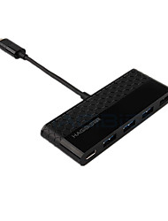 Hagibis Type-C Power Supply 4hub USB3.0 5.0 Gbps 4 Ports 0.1m Cable