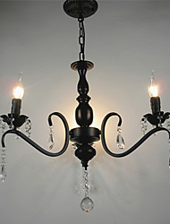 cheap -Crystal Chandelier European Style Wrought Iron Living Room Lamp  Creative Personality Bedroom Restaurant Candle Lamps And Lanterns