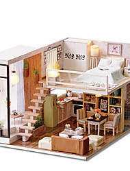 cheap -CUTE ROOM Model Building Kit Toys DIY Famous buildings House Architecture Plastics Classic Pieces Unisex Birthday Gift
