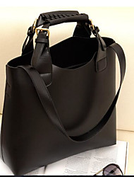 cheap -Women Bags PU Tote for Casual Outdoor All Seasons Black Brown