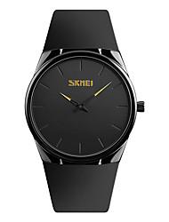 SKMEI Муж. Нарядные часы Наручные часы Японский Кварцевый Защита от влаги PU Группа Cool минималист Черный