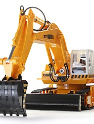 RC Car HUINA 680 11 Channel 2.4G Excavator 1:10 Brush Electric KM/H Remote Control Rechargeable Electric