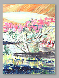 cheap -Hand-Painted Still Life Vertical,Vintage One Panel Canvas Print For Home Decoration