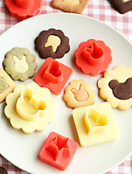 cheap -8 Pcs /Lot 3D Biscuit Cookie Molds Hollow Heart Moon Star Sun Tree Rabbit Fish Shapes Cookies Molds Suit DIY Cake Cutter