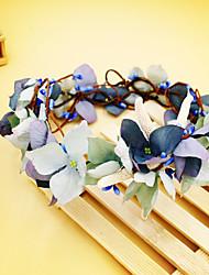Handmade Bride Starfish Wreath Blue Headpiece-Wedding Special Occasion Birthday Party/ Evening Tiaras Flowers 1 Piece