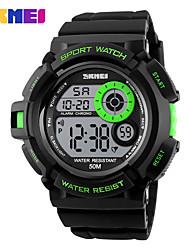 Недорогие -SKMEI Муж. Спортивные часы Наручные часы электронные часы Цифровой Горячая распродажа PU Группа Цифровой Кулоны Мода Черный - Зеленый Синий Золотистый