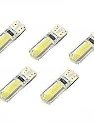 preiswerte -2w dc12v weiß t10 2cob canbus dekorative Lampe Leselicht Kfz-Kennzeichen Licht Tür Lampe 5pcs