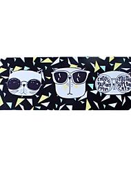 Cool chat noir tapis de souris imperméable dessin animé style tissu jeu pad 78cm * 30cm
