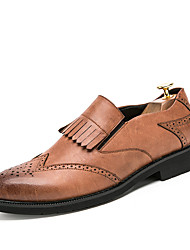 Men's Oxfords Clogs & Mules Spring Fall Wedding Outdoor Office & Career Casual Party & Evening Flat Heel  Black Brown Grey